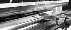 bending a sheet metal part with the press brake